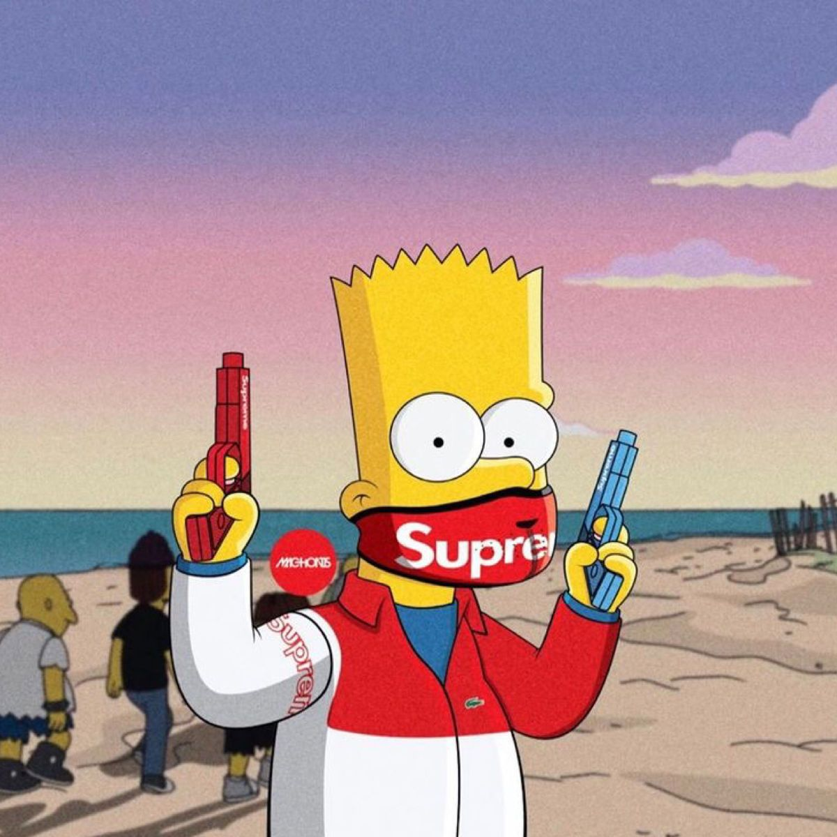 Connecting To The Itunes Store Simpson Wallpaper Iphone Bart Simpson Art Supreme Wallpaper