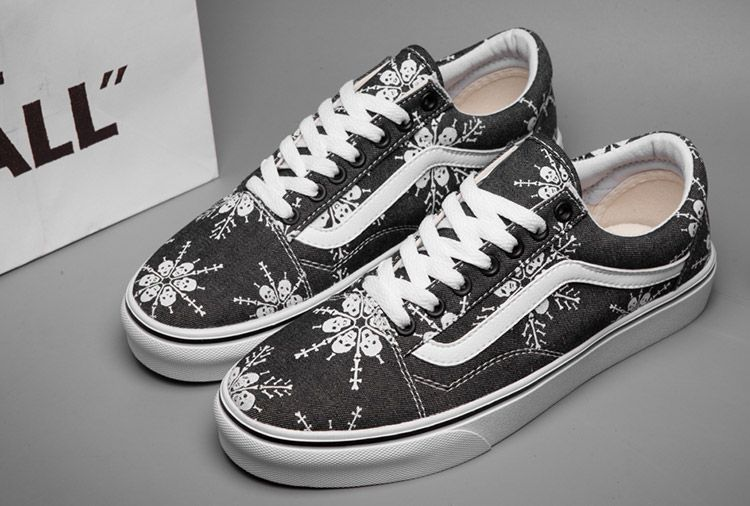 a031cc3b0d5cbc Black Vans Reissue Doren Skull Snowflakes Print Old Skool Skateboard Shoes   C309  -  39.99   Vans Shop