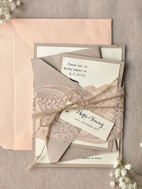top 30 chic rustic wedding invitations from 4lovepolkadots - Blush Wedding Invitations