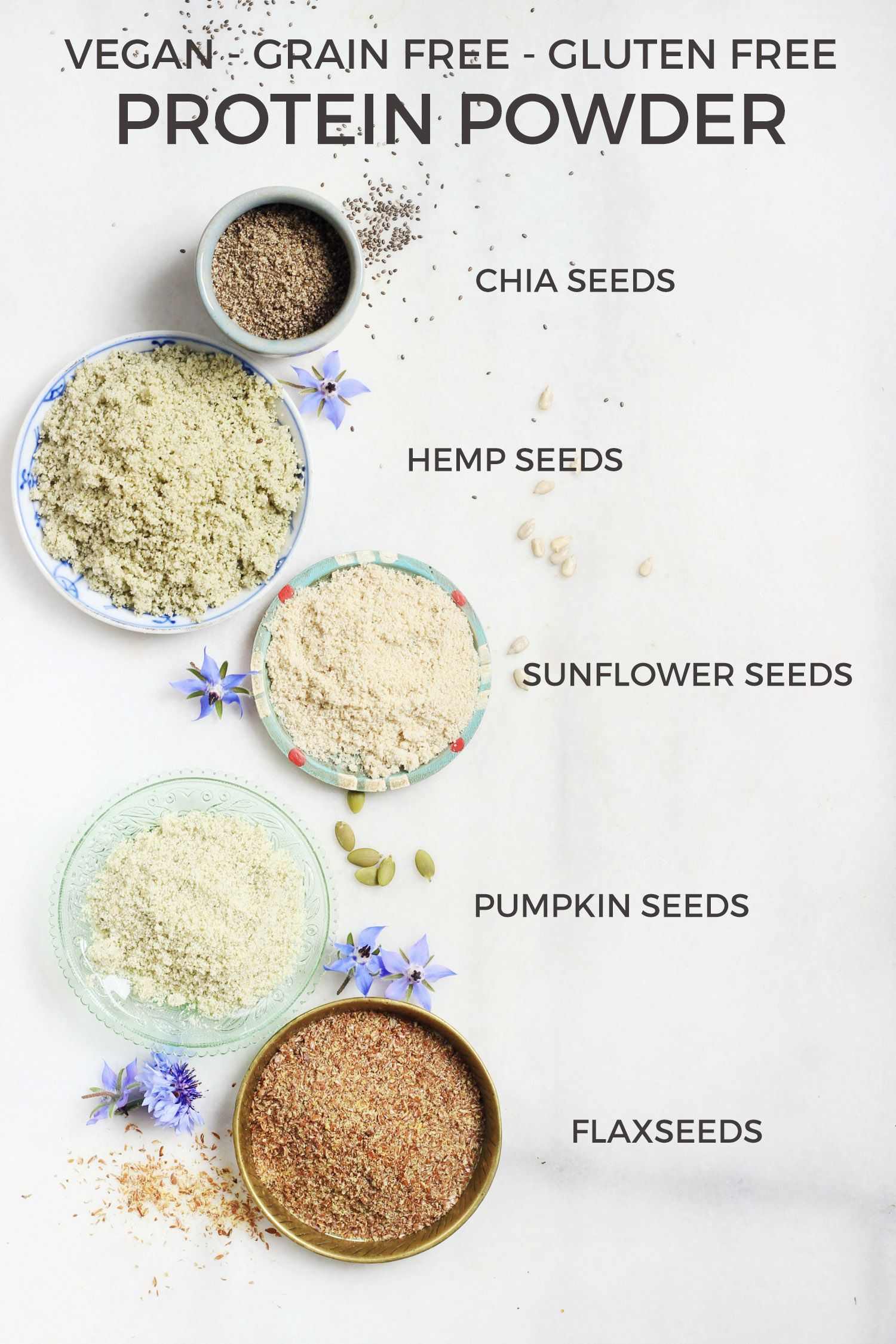 homemade vegan protein powder grain free gluten free nut free