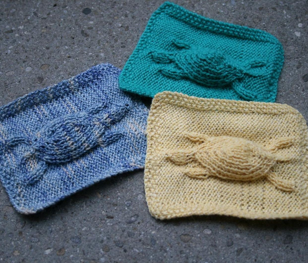 Sea Creature Knitting Patterns | Clever design, Potholders and ...