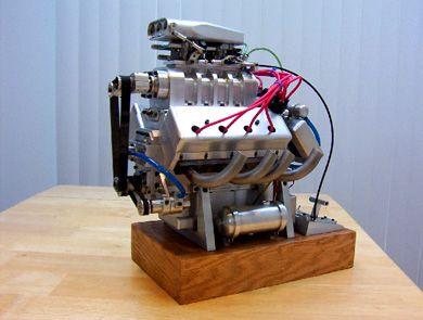 Running Model V8 Engine Kit Miniature Model V8 Engine By Robert