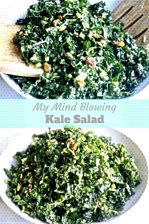 Easy Kale Salad With Lemon Dressing -