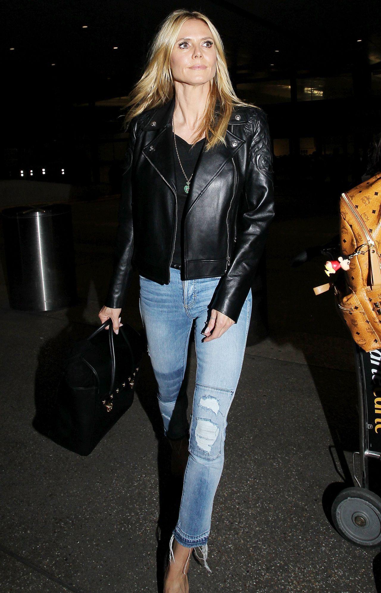 Heidi Klum Los Angeles International Airport 3 17 2016 Heidi Klum Heidi Klum Style Fitness Fashion