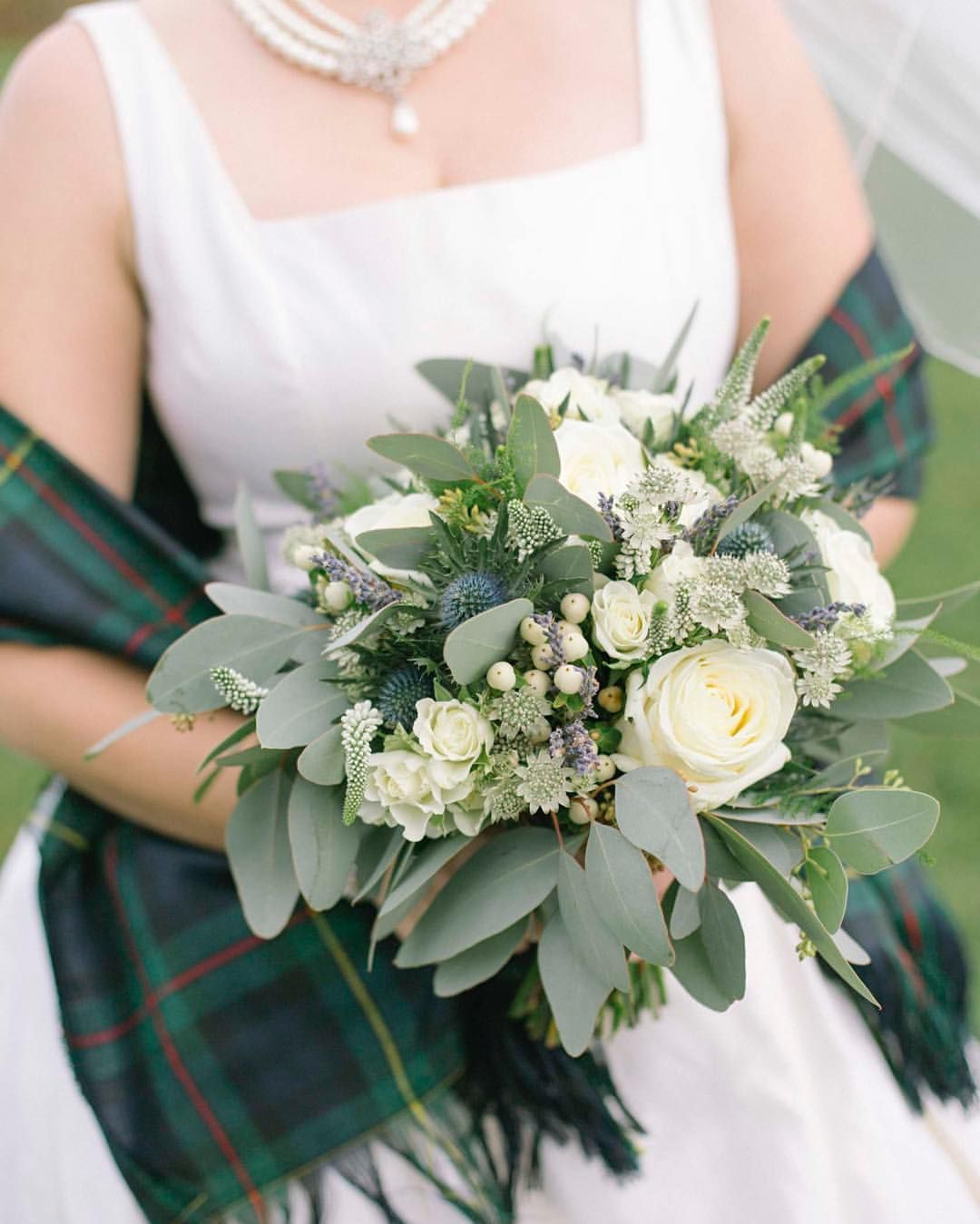 Wedding Flowers Edinburgh: Gorgeous #gatheredstyle #bouquet From A