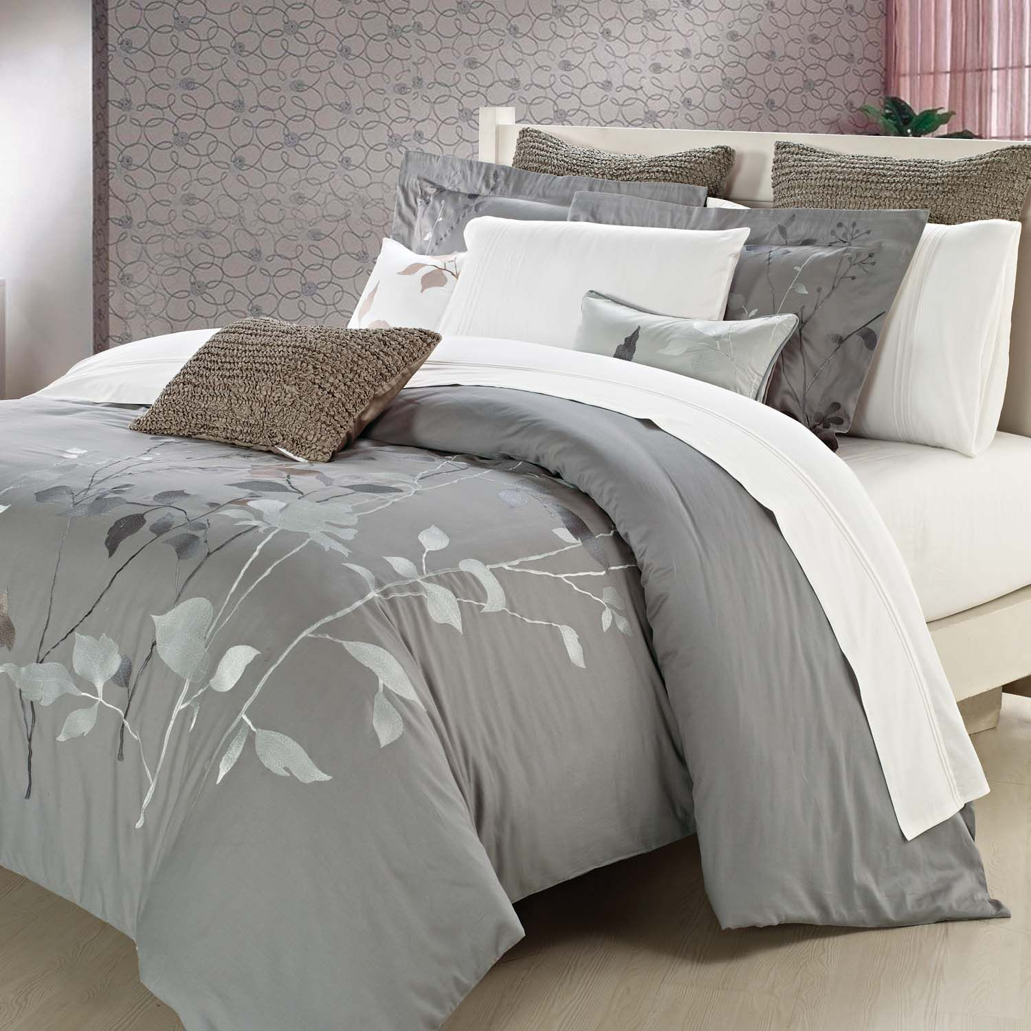 Wonderful Bedroom Pillow Sets With Beautiful Pillows And Elegant Bed Also Modern