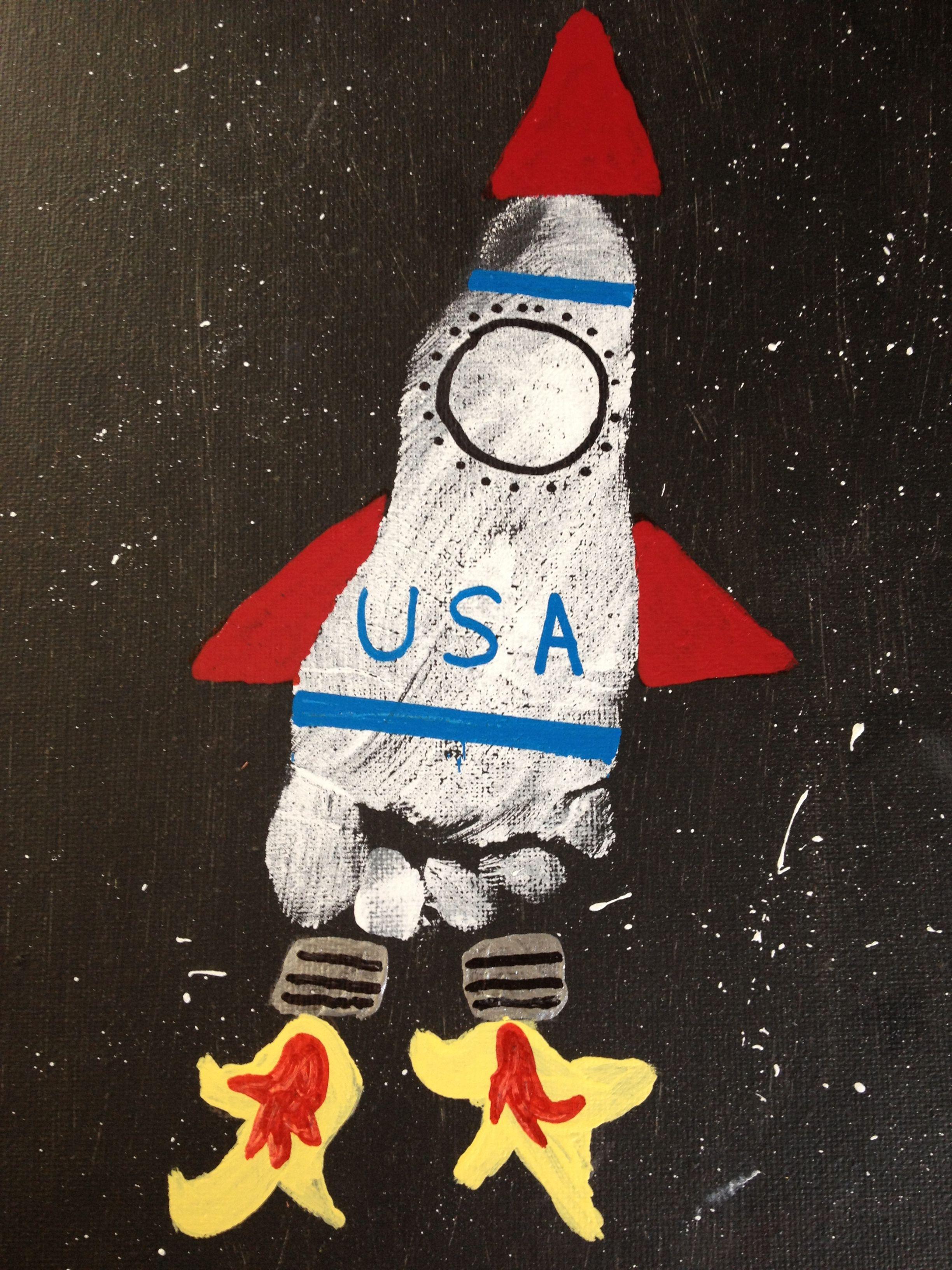 Footprint Rocket Ship