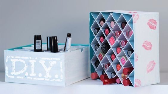 DIY Lipstick Box Organizer -   18 diy Box makeup ideas