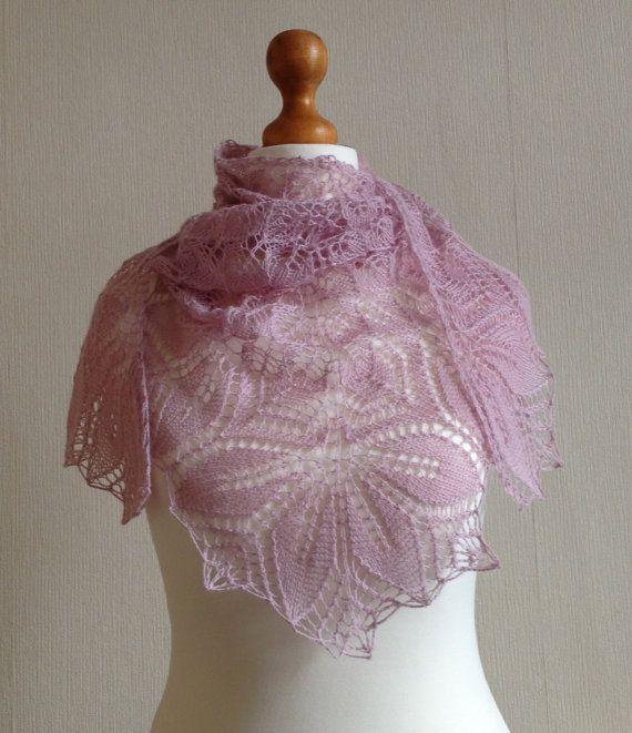 Haruni Hand Knitted Lace Shawl / Wrap in by Snugglescuddles, £50.00