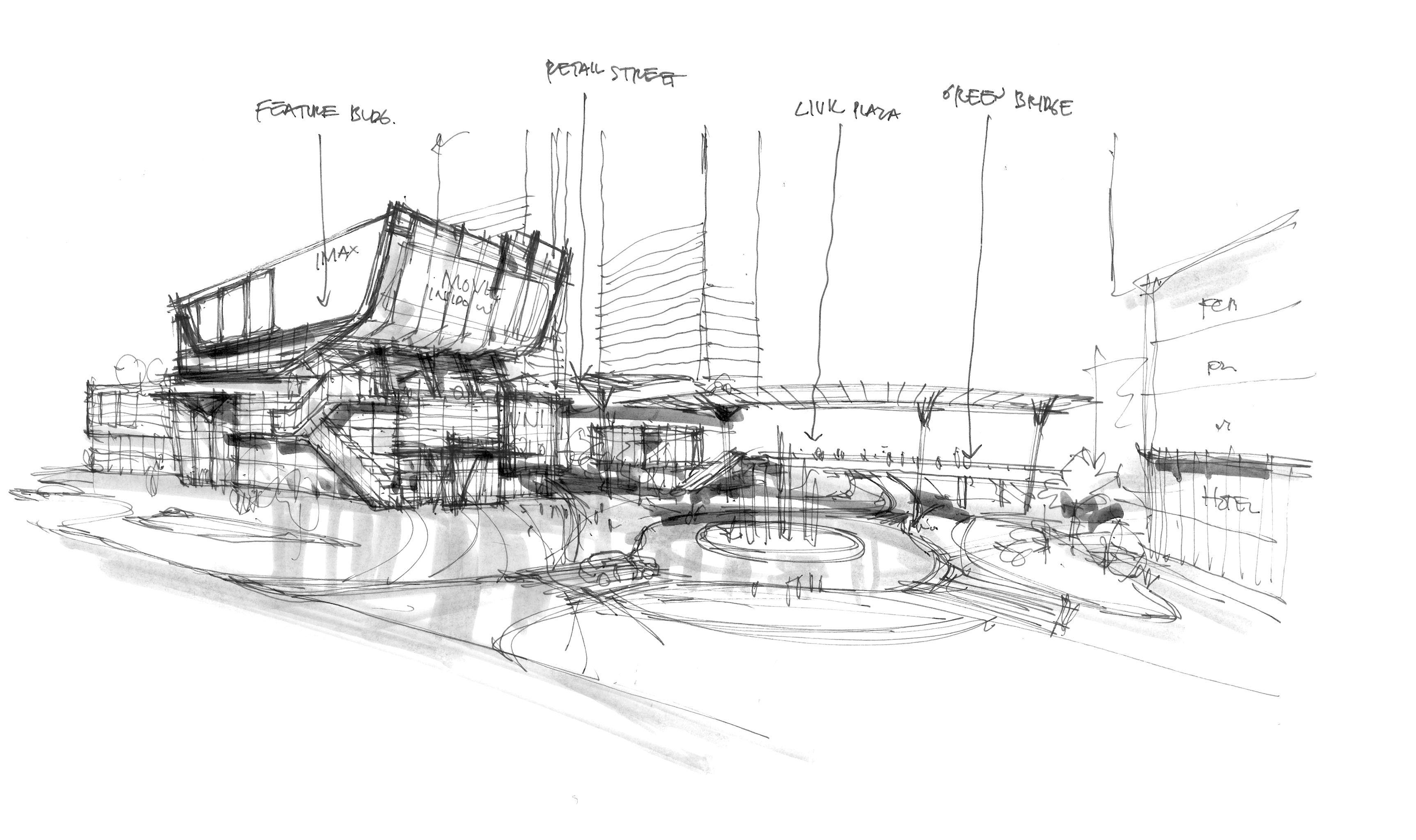 Architecture Retail Plaza Concept I Randy Carizo