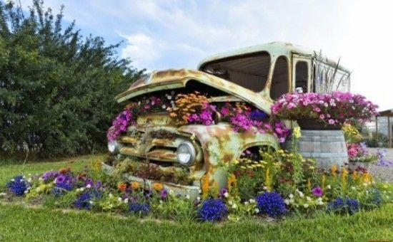 maceteros para el jardin reciclados (5) jardin Pinterest - maceteros para jardin