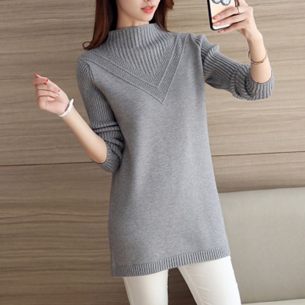 1816c672f1f Winter Women Turtleneck Sweater Pullover 2018 New Large size Warm Ladies  Pullover Long Sleeve Female Winter Knit Sweaters ll775 Price  55.08  tshirt