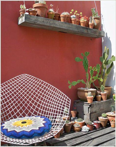 Le sumas un libro y es perfecto casa chaucha patios for Jardineria al aire libre casa pendiente