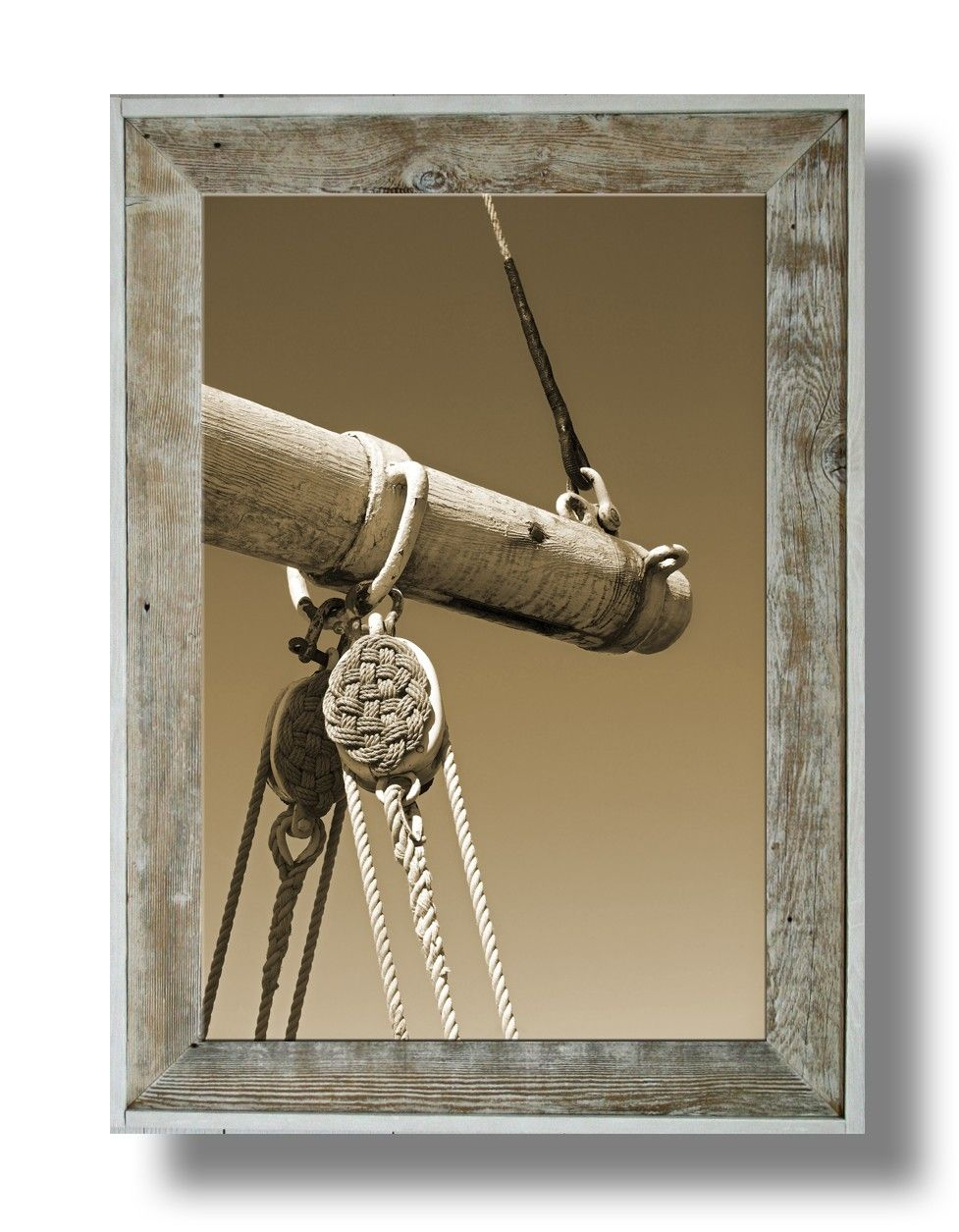 Antique Mast Artwork 33 32 X 24 Canvas Print In A 43 X 31 White Washed Frame Cl43w 33 Picture Frames Unique Items Products Antiques