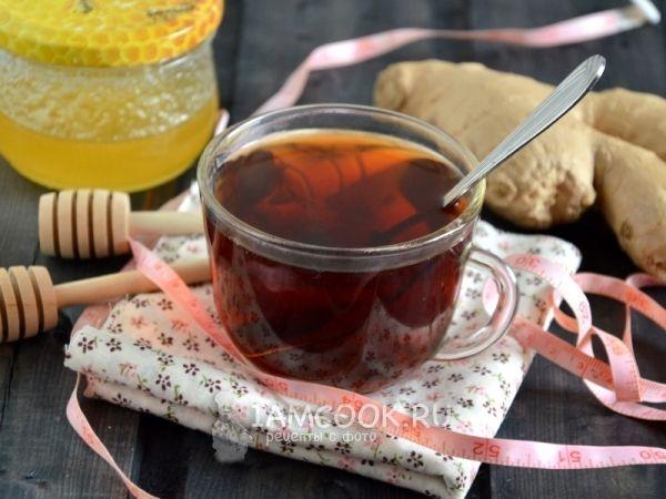 чай с имбирным порошком