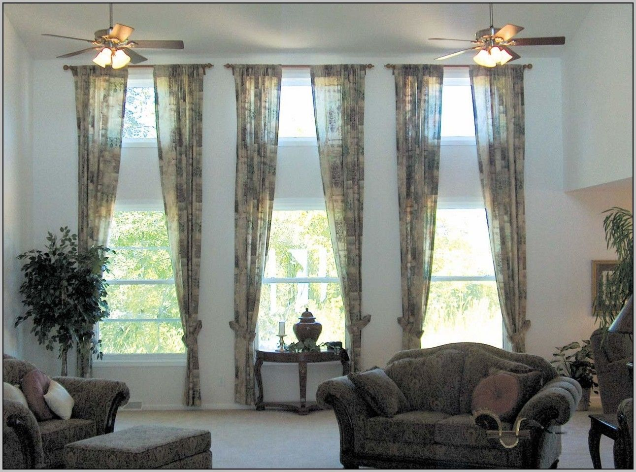 Curtain Ideas For Living Room 3 Windows Curtains Living