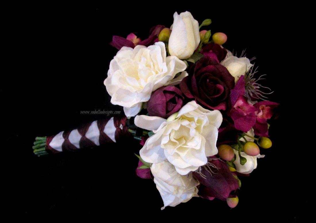Artificial floral wedding bridal bouquets purple white real touch artificial floral wedding bridal bouquets purple white real touch flowers sabella designs sabella izmirmasajfo