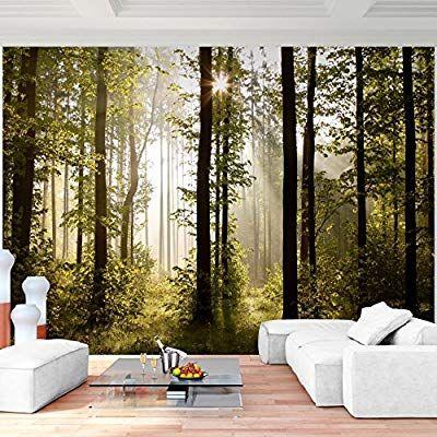 Fototapete Wald Landschaft 352 x 250 cm Vlies Wand Tapete Wohnzimmer - moderne tapeten fr schlafzimmer