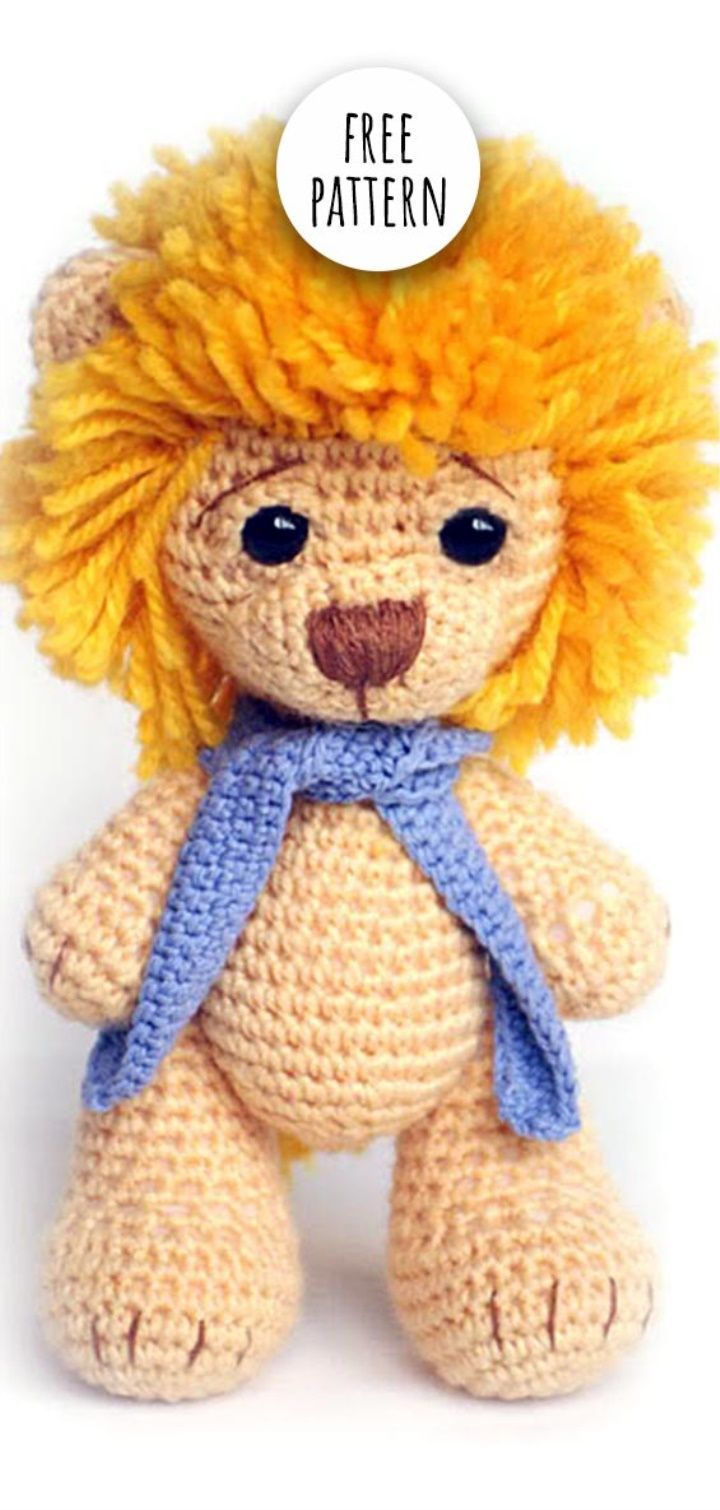Amigurumi Lion Free Pattern   Crochet lion, Knitting ...