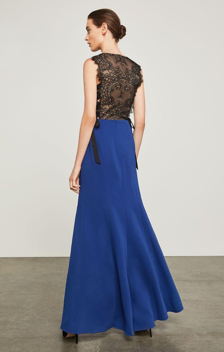 Daulphine bowtie gown royal blue party dress blue