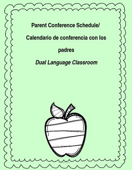 editable parent conference sign up sheet in spanish and english