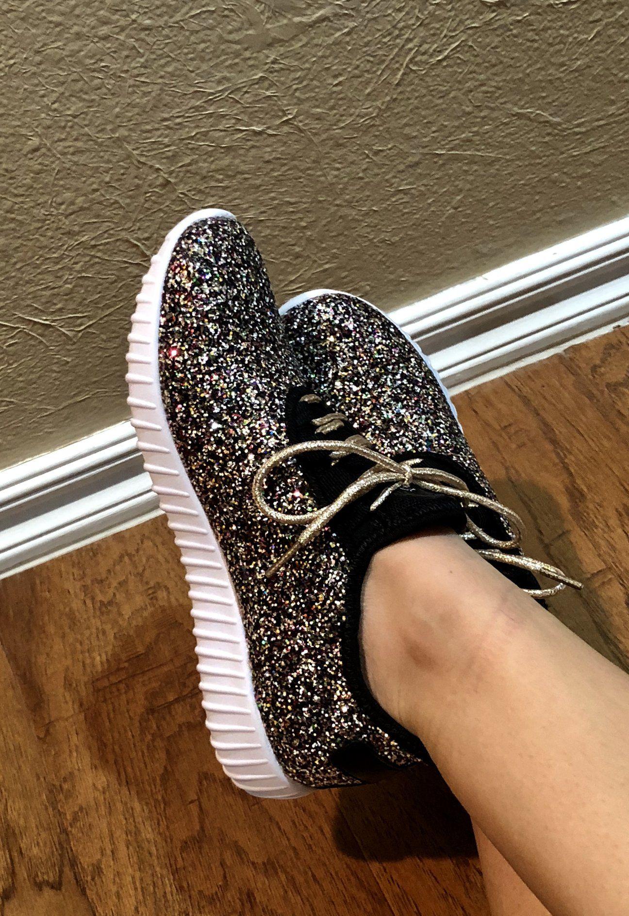 Mermaid glitter bomb sneakers #sneakers