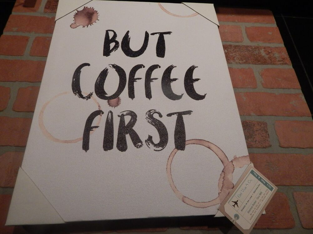 But First Coffee Mug Shop Food Drink Mark Ring Stain White