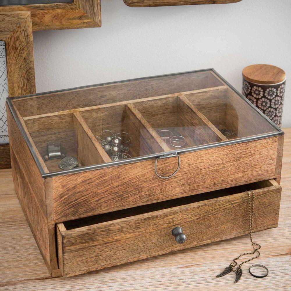 Boîte à bijoux en bois SLOBIKKY  Boîte à bijoux en bois, Bijoux