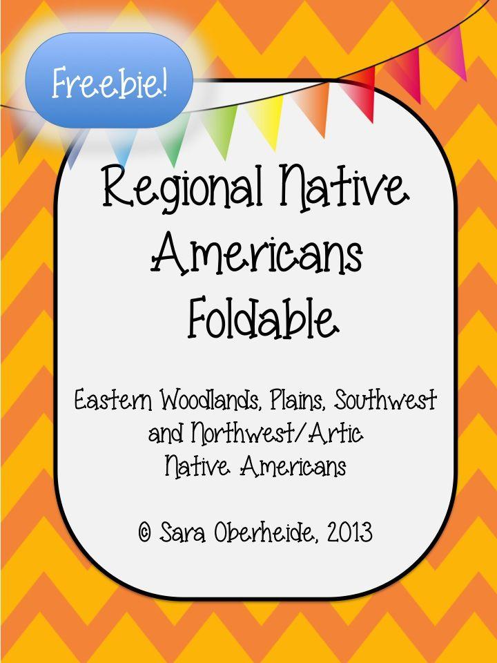 Free Native American Foldable East Woodlands Plains Southwest