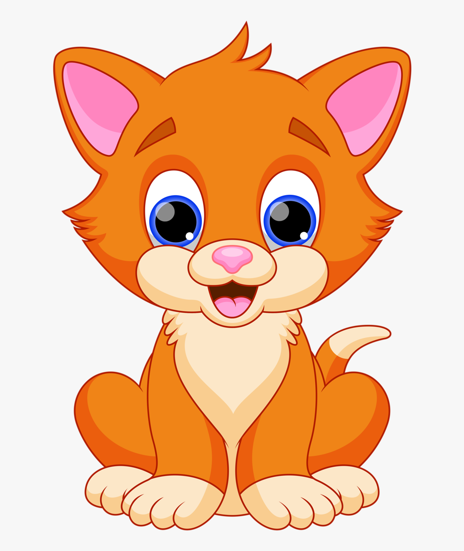 Clipart Baby Cat Free Vector Design Expanding My Cat Clipart Cat Clipart Cute Animal Drawings Kawaii Baby Clip Art