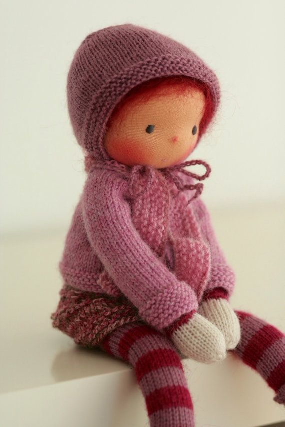 Waldorf knitted doll Hortense 13 by Peperuda by ...