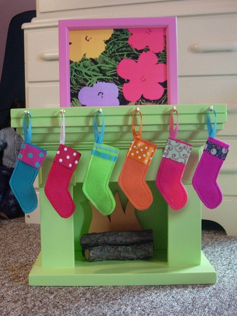 DIY Christmas Stockings with Stocking Hook Rack for