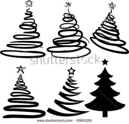 Pin By Jacqueline Mcandrew On Pop Walk Christmas Tree Silhouette Tree Doodle Palm Tree Vector