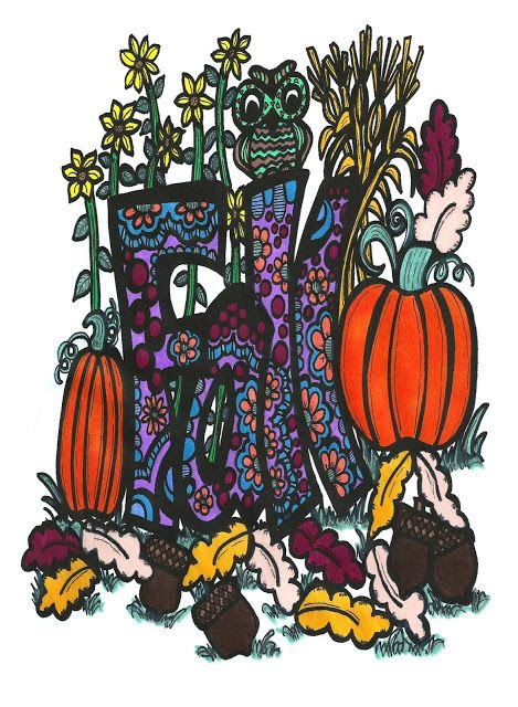 Abstract Doodles:    Hello and welcome to Fall. It is a glorious tim...