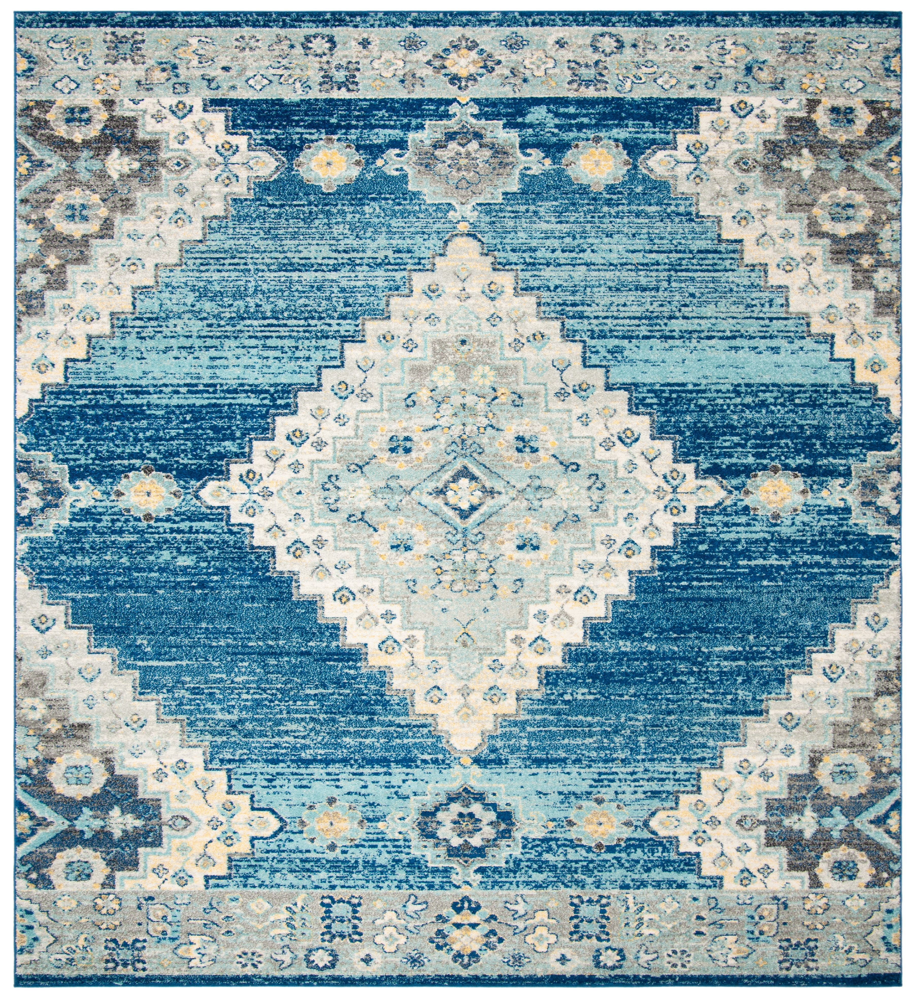 Madison Collection 6 7 X 6 7 Square Rug In Navy And Creme Safavieh Mad615n 7sq Area Rugs Area Rug Design Transitional Carpet