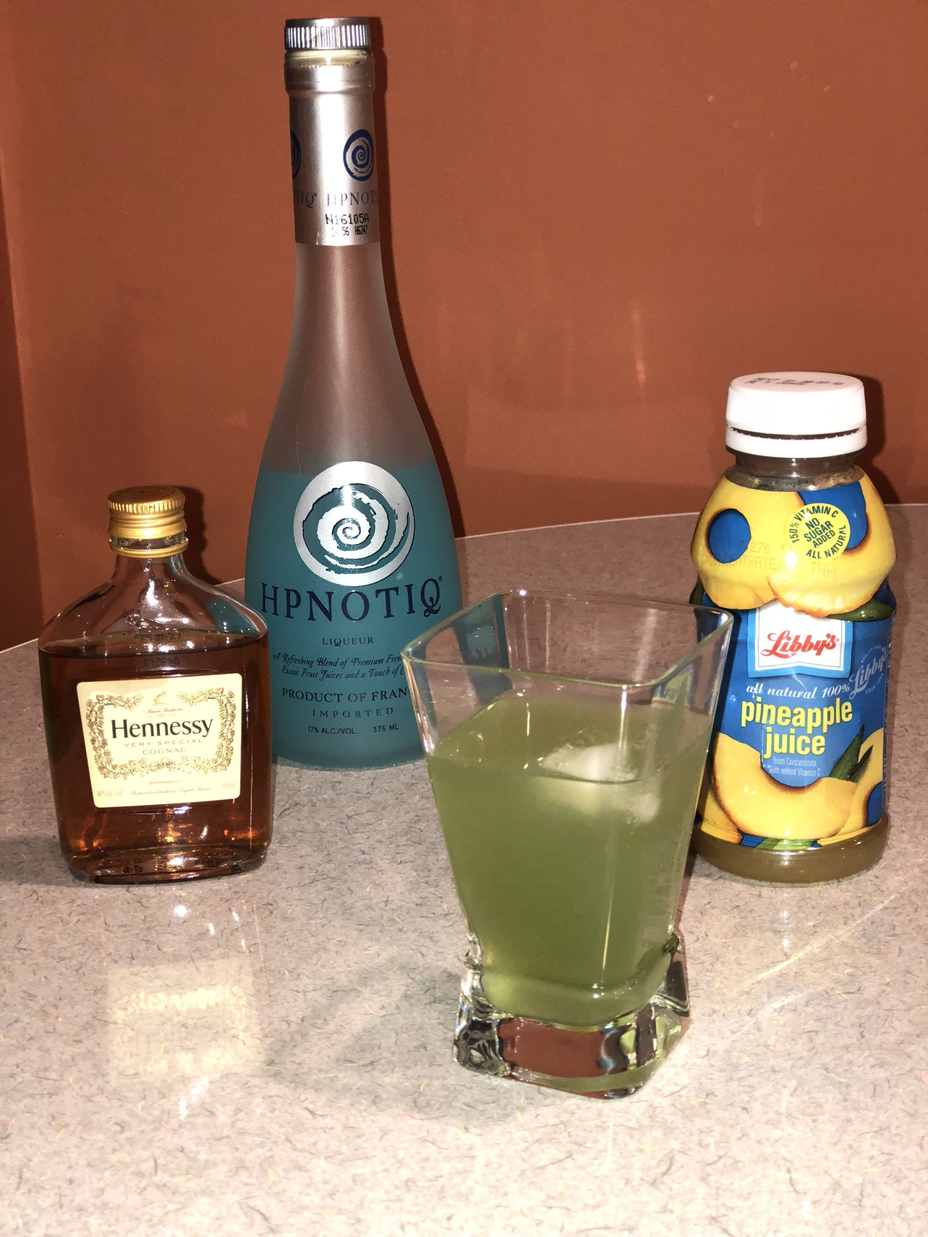 Incredible Hulk Drink 1/2oz Hennessy, 2 1/2oz HPNOTIQ mix ...