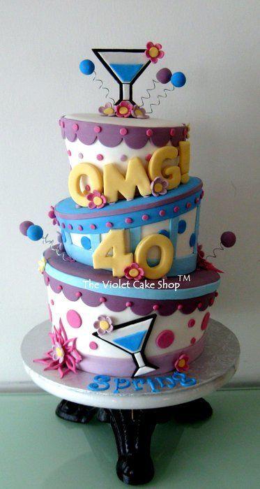 OMG 40 Celebration Cake