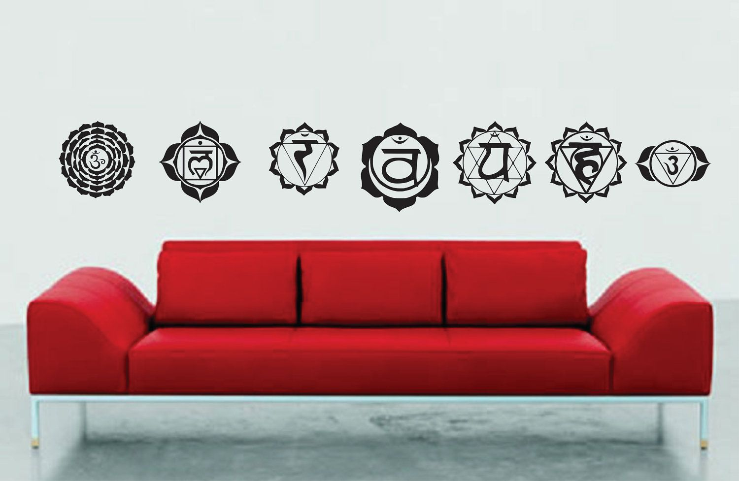 Seven Chakra's Set Wall Decal Sticker Graphic Art by DabbleDown
