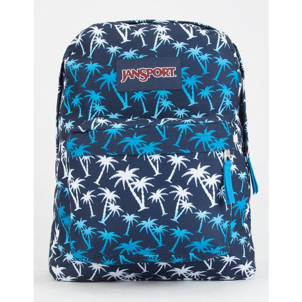 JanSport SuperBreak Backpack ($36) ❤ liked on Polyvore featuring bags, backpacks, blue combo, jansport bags, jansport rucksack, day pack backpack, strap bag and jansport backpack