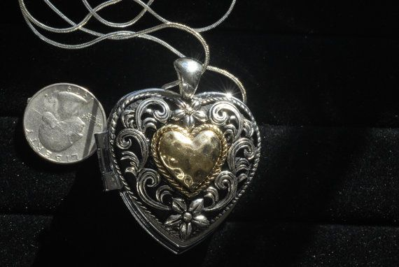 Heart shaped music box locket with silver by vanityjewelbox heart shaped music box locket with silver by vanityjewelbox aloadofball Gallery
