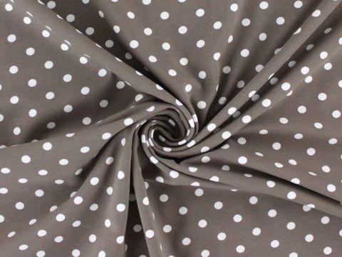 Hellbrauner Baumwolljersey: Dots - 150 cm  - Stoffe im Makerist Materialshop