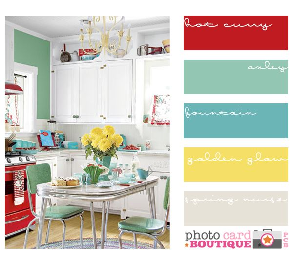 Retro kitchen in fab colors
