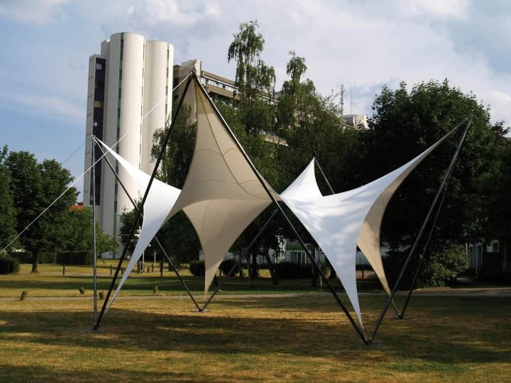 Mollaertu0027s studio last year built a temporary transportable canopy a project that proved especially successful as the University found many uses for it ... & Tensile structures: Do it yourself - Fabric Architecture | Arch ...
