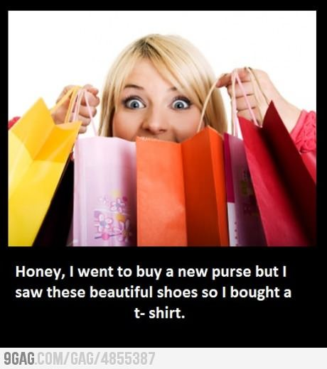 This is me when I go shopping.