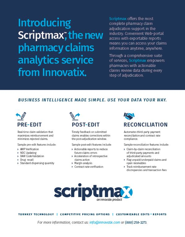 Introducing Scriptmax, the new pharmacy claims analytics service