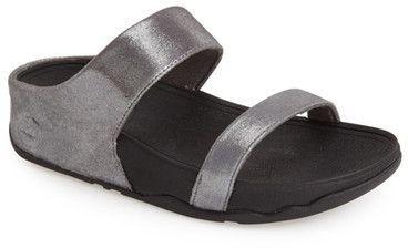 e1d652c727ba9 FitFlop Lulu Shimmer Suede Slide Sandal