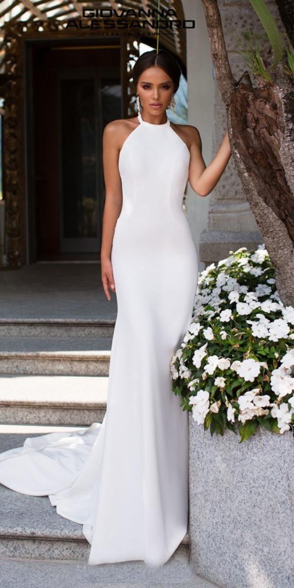 15 Second Wedding Dress Ideas You'll Like | Wedding Forward in 2020 | Wedding dresses, Halter ...