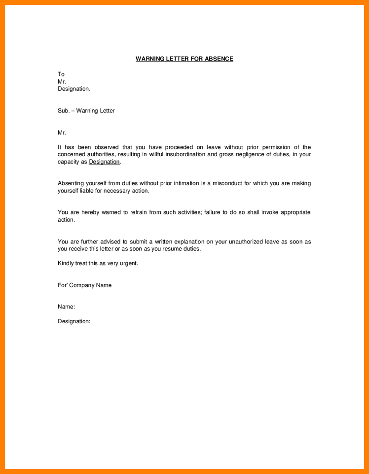 Sample Warning Letter To Employee For Insubordination from i.pinimg.com