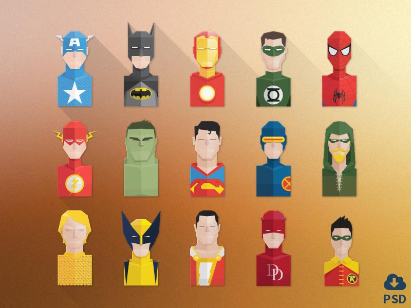 Super hero avatars design templates available for download avatar superhero photoshop design - Image de super hero ...