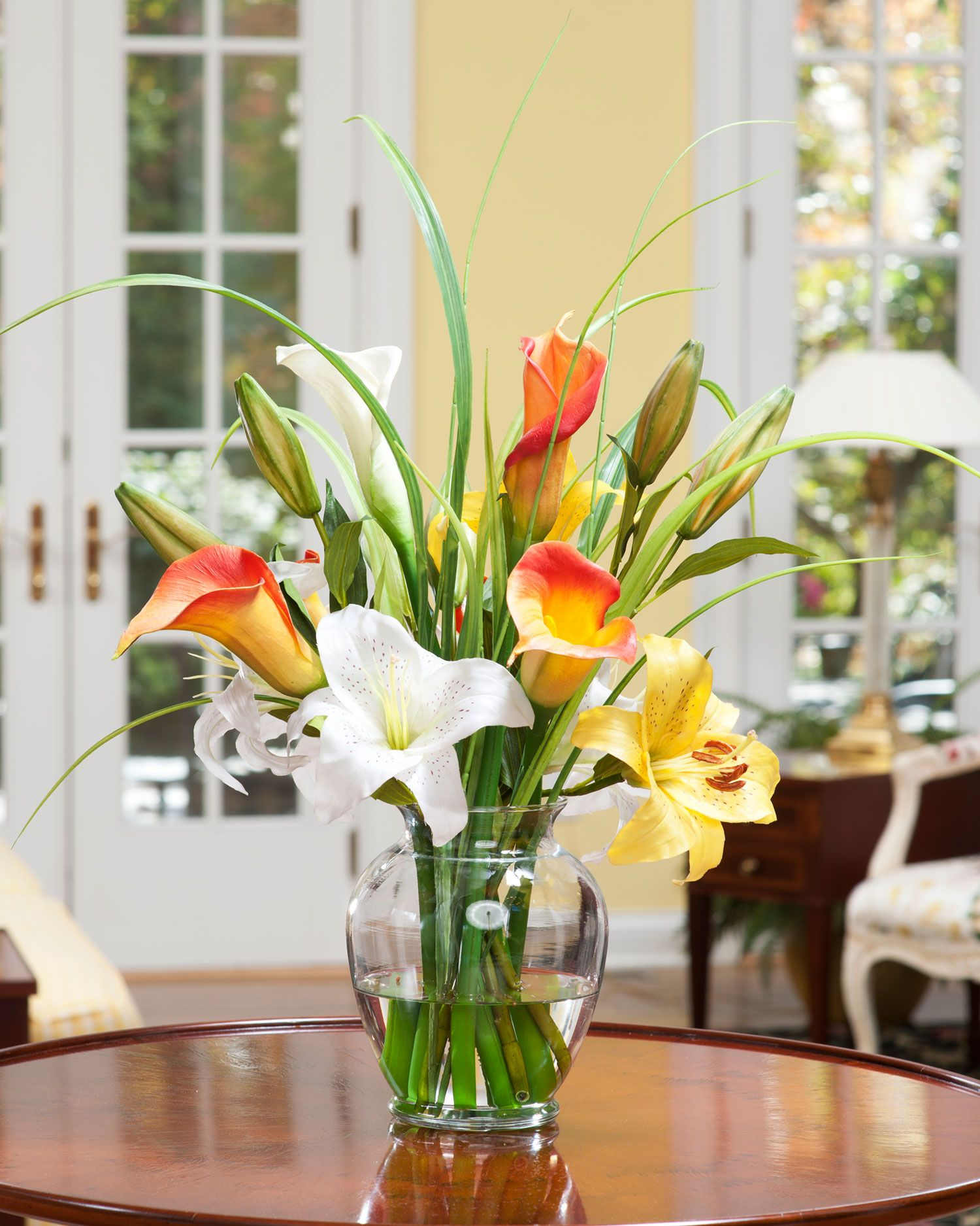 Calla day lily silk flower accent calla lilies silk flowers and flower mightylinksfo Gallery